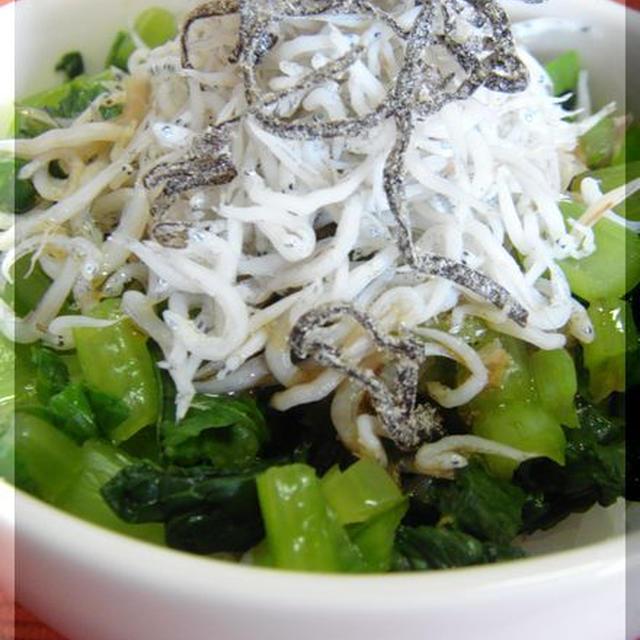 小松菜シラス丼。