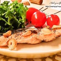 鮭のガーリック&ペパーソテー