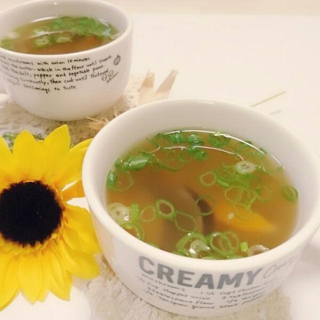 創味シャンタンで簡単生姜中華スープ