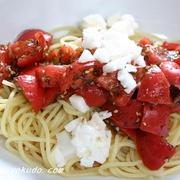 夏ブランチ、トマトの和風冷製パスタ by 山脇りこさん