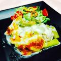 鶏肉とアスパラガスのモッツァレラチーズグラタン