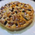 鶏肉のパテ、アマレットソースがけ〜茹でピーナツの石畳のタルト風