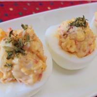 【レジピ】簡単★子供喜ぶ【ゆで卵のサラダ仕立て】