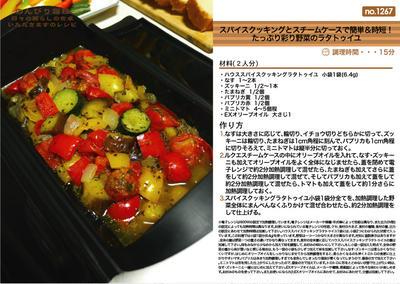 スパイスクッキングとスチームケースで簡単&時短!たっぷり彩り野菜のラタトゥイユ 電子レンジ調理料理 -Recipe No.1267-