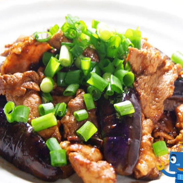 ナスと豚肉の味噌炒めの巻