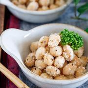 大豆のカリカリ♡コンソメチーズ揚げ【#揚げない #おやつ #おつまみ #やみつき】