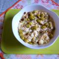 イチビキの蒸し枝豆で白和えのタパス
