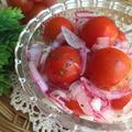 トマトと紫玉ねぎのさっぱりマリネ♪