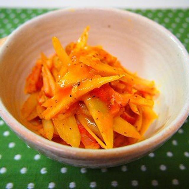 ごぼうのトマト炒め