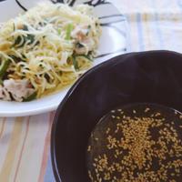 マルちゃん焼そば塩で「つけ麺」