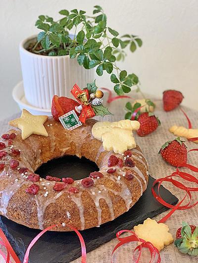 まちづくりセンターレッスンでの小学生対象ケーキはエンゼル型クリスマスケーキ・・試作しました!!