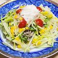 薬膳ってなぁに?今日は人間関係運アップのそばがラッキー、野菜たっぷり冷麺風サラダそばで薬膳!