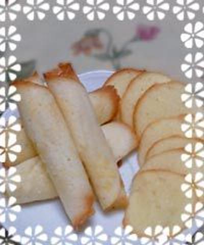 簡単に卵白消費のラング・ド・シャ♪あの市販のクッキーに似てる!?シガータイプもできちゃう!