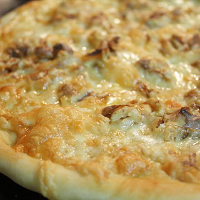 『ビール』自家製ピザ<和風くるみなチーズ>