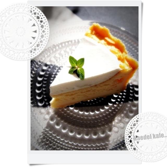 *半熟チーズケーキ on さくっタルト*