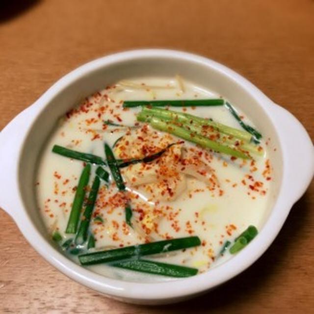 GABANレモングラスを使って鶏団子入り豆乳スープ
