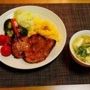 食べ頃かしらで決まった晩御飯☆自家製豚肉の味噌漬け♪☆♪☆♪