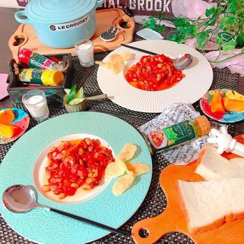 タコと野菜のトマト煮込み