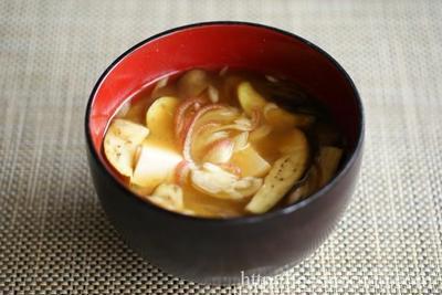 茄子と茗荷の味噌汁