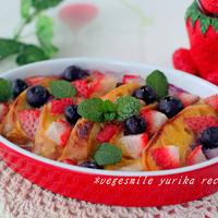 苺とブルーベリーのフレンチトースト