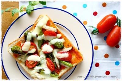 獅子唐とトマトの和風ピザトーストと、ピーマンとしらすのオリーブオイル煮など週末ご飯あれこれ。