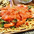 [バリラ ポモドーロ] 海老とほうれん草のトマトパスタ レシピ