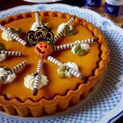 ナツメグとシナモン香る♪かぼちゃとレーズンのタルト