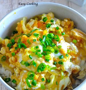 お家にあるものでパパッと一品♡男子の胃袋を満たす♡『卵と玉ねぎのたぬき丼』《簡単*節約》とスマホをご使用の方へ♡