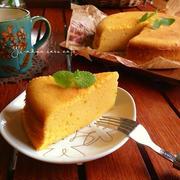 濃密なかぼちゃケーキ。〜しっとり感ギュッとしたケーキ〜