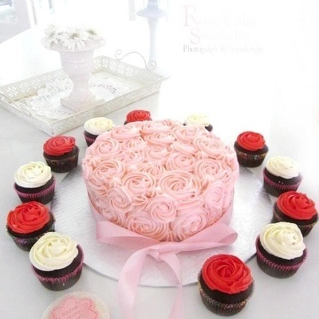 バタークリームRose Cake