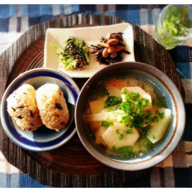 乾物使って簡単美味しい炊き込み玄米ご飯だよ~~~♬(*^^)v