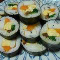 オランダ巻きで巻き寿司