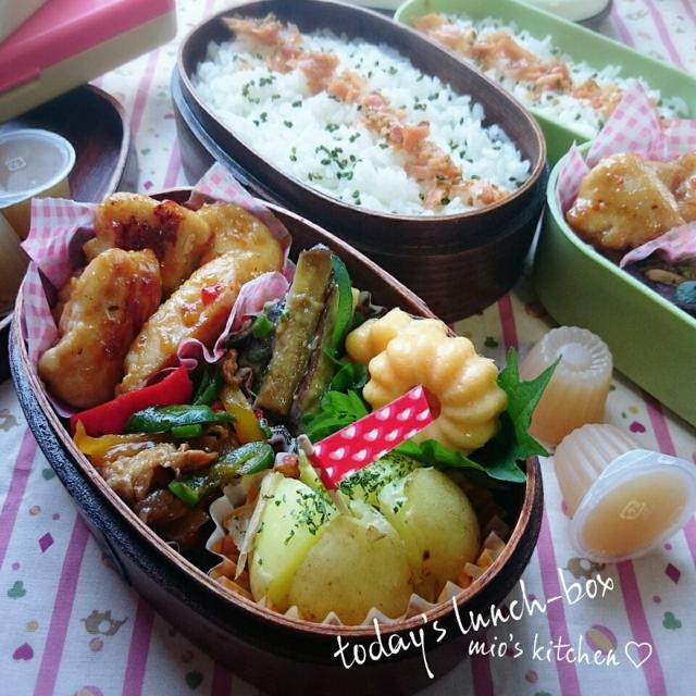 ♡今日のお弁当♡鶏胸肉のスイチリ炒め♡