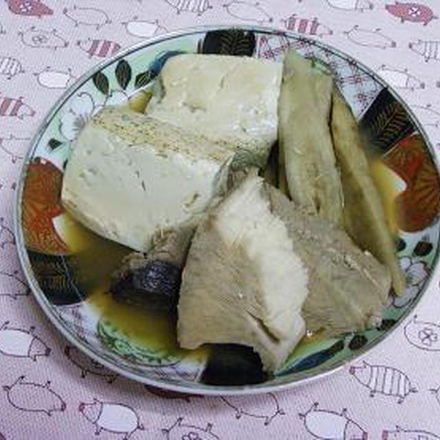 ☆とんぼと新ごぼう、豆腐炊いたん☆
