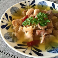 お肉ジュ~シ~♥鶏ももと砂肝のアヒージョ 【低糖質】