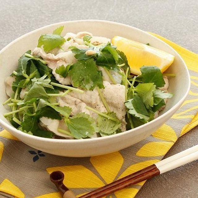 しゃぶしゃぶ豚の三つ葉サラダ (レシピ)