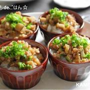 鶏ごぼう丼! しっとり味噌風味~