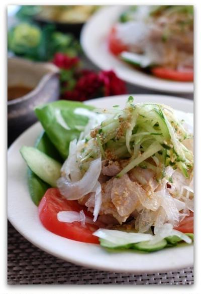 夏レシピ!野菜たっぷり豚肉の冷しゃぶ&梅風味の和風ポテトサラダ