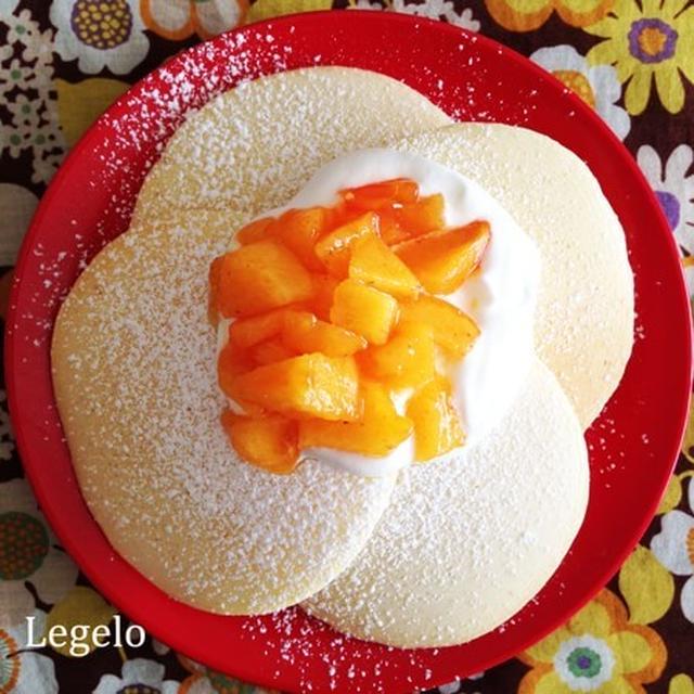 朝時間.jp に本日掲載されています♪軽い口当たり白いパンケーキ