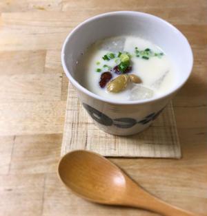 和豆ミックスで*お豆と大根の白みそ豆乳スープ