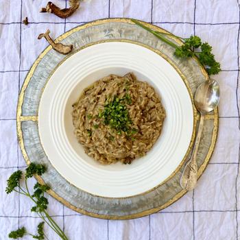 Veganレシピ。フライパンで簡単!本格的ポルチーニリゾットの作り方