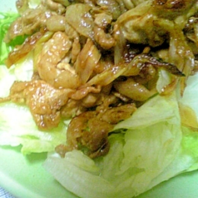 豚肉の辛みそ生姜焼き