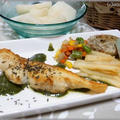 鱈のソテー バジルソース