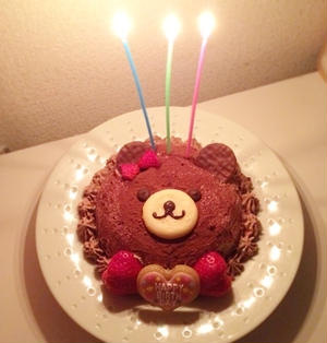 【クリスマスにも☆簡単クマのズコットケーキ】