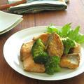 鮭とブロッコリーの黒こしょうガーリック炒め
