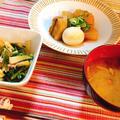 【夕ごはん】大根使い切り!豚の角煮と、ツナと昆布の大根サラダ