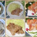 今夜は、殻付き活き赤貝のお刺身に豚生姜焼き・肉豆腐で