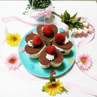 バレンタイン♡市販のスポンジケーキで簡単チョコケーキ