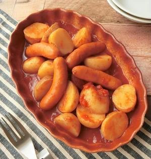 シャウエッセン ホットチリと新じゃがのトマト煮