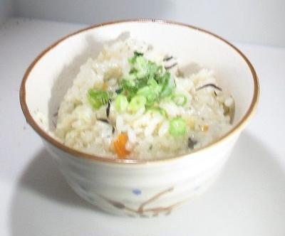 ホイル蒸しのスープで炊き込みご飯